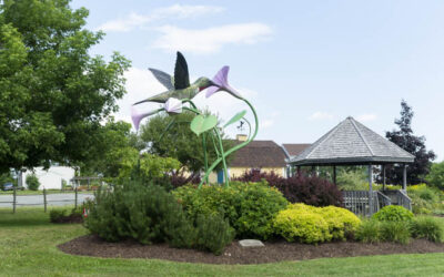 Giant Hummingbird Sculpture