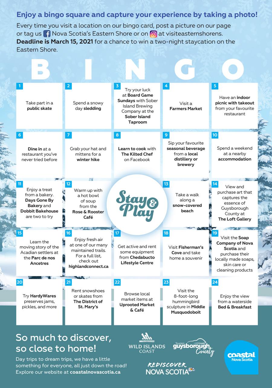 Coastal Nova Scotia - 2020 Bingo - Eastern HLM