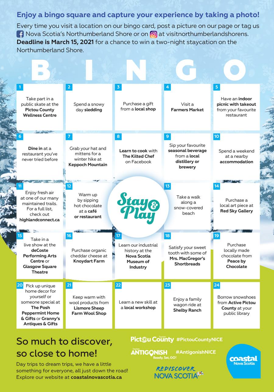 Coastal Nova Scotia - 2020 Bingo - Antigonish